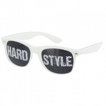 Pinhole zonnebril hardstyle wit