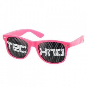 Pinhole zonnebril techno roze