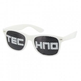 Pinhole zonnebril techno wit