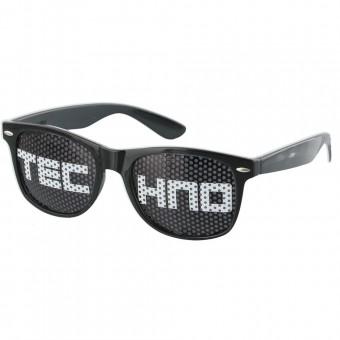 Pinhole zonnebril techno zwart