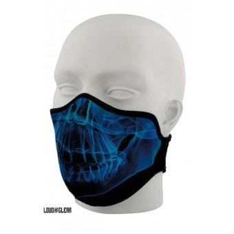 Skull Mondkapje Mondmasker Gezichtsmasker Wasbaar Met Print - Zwart Blauw