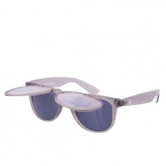 Twinklerz space zonnebril transparant grijs
