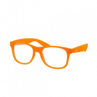 Fluor Orange Diffraction Rainbow Glasses
