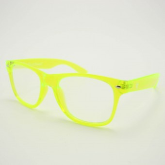 Transparent Yellow Diffraction Glasses