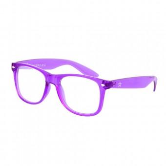 Twinklerz spacebril transparant paars