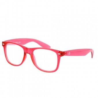 Twinklerz spacebril transparant rood