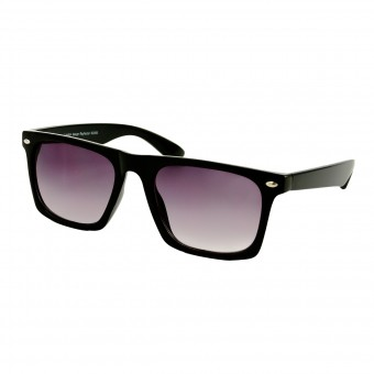black wayfarer sunglasses flat top - black lenses