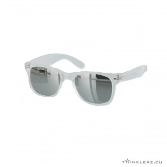 Silver mirrored transparant wayfarer sunglasses